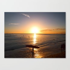 The end of a good day Canvas Print