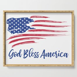 God Bless America Serving Tray
