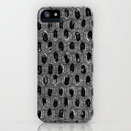 WATERCOLOUR BLACKWORK: 'Lozenge' Burnt Liquorice 1 (dark) iPhone Case