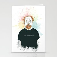 louis ck Stationery Cards featuring Louis CK… I was an awkard kid…  by suPmön