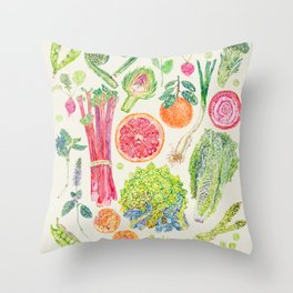 Spring Harvest - Neutral Throw Pillow