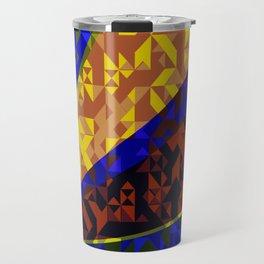 Aztec Geometric Beam Travel Mug