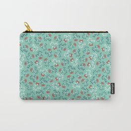 Ditsy mistletoe with red ribbon Carry-All Pouch