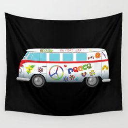 Peace and love road trip Wall Tapestry