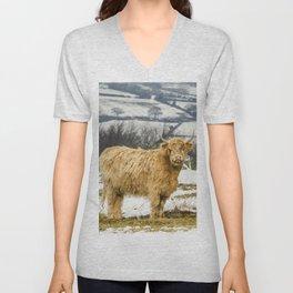The Highland Cow Unisex V-Neck
