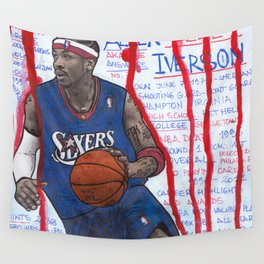 NBA PLAYERS - Allen Iverson Wall Tapestry