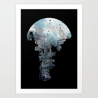 wallpaper Art Prints featuring Secret Streets II by David Fleck