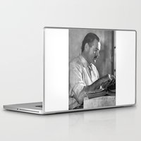 hemingway Laptop & iPad Skins featuring Ernest Hemingway  by Limitless Design