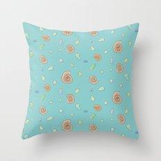 Ammonite Pattern Throw Pillow