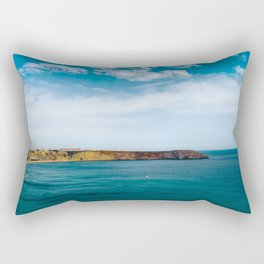 Ocean view from Fortaleza de Sagres, Portugal Rectangular Pillow