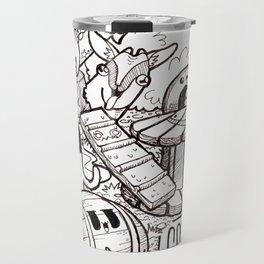 Kawaii Doodle - Goat Love Travel Mug
