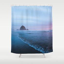 Haystack Rock Sunset Shower Curtain