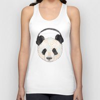 health Tank Tops featuring Polkadot Panda by Sandra Dieckmann