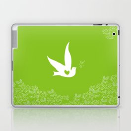 Love and Freedom - Green Laptop & iPad Skin