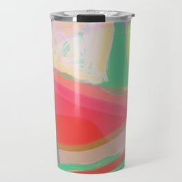 Shapes and Layers no.13 - abstract painting gouache and pastel Travel Mug