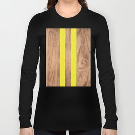 Wood Grain Stripes Yellow #255 Long Sleeve T-shirt