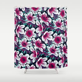 Manuka Floral Print -  Light Shower Curtain