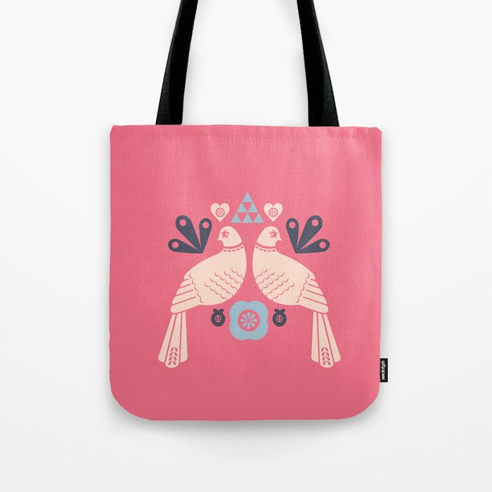 pink birds Tote Bag