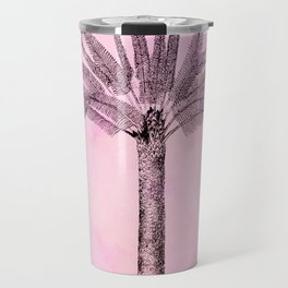 Pink Retro Palmtree Travel Mug