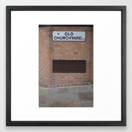 liverpool old churchyard Framed Art Print