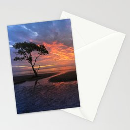Colorful Sunset on the Beach Stationery Cards