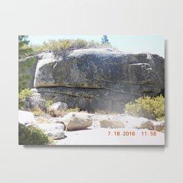 road trip, rock formation, hand, arm, pig hoof, split into each side Metal Print