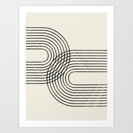 Arch duo 2 Mid century modern Art Print