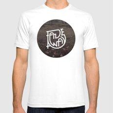 Fade Away Mens Fitted Tee White SMALL