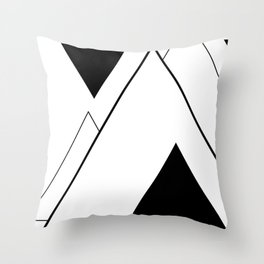 Minimal Mountains Throw Pillow