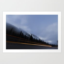 Rocky Mountain Trails - TransCanada Highway Art Print