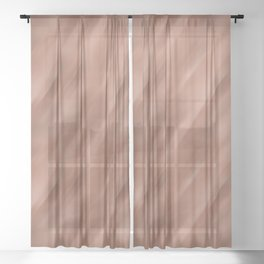 Abstract Motion Blur Blended Colors Inspired By Sherwin Williams Cavern Clay SW 7701 Sheer Curtain