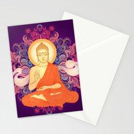 Purple Buddha Meditation Stationery Cards