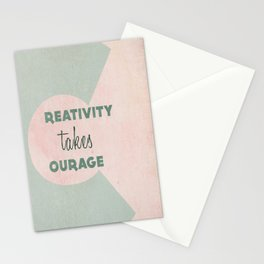Creativity Takes Courage! Stationery Cards