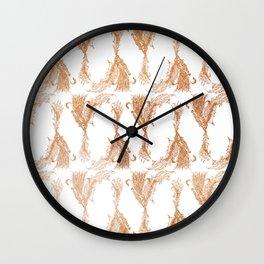 Phoenix in Copper Wall Clock