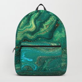 Green Bubblegum Candy Colors Jawbreaker Layers Pour painting Liquid Colors Backpack