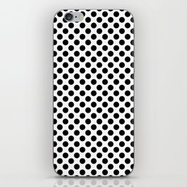 Minimalistic black and white small polka dots pattern iPhone Skin