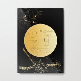Voyager 1 Golden Record #3 Metal Print