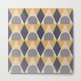 Elegant Art Deco Geometric Pattern 313 Metal Print
