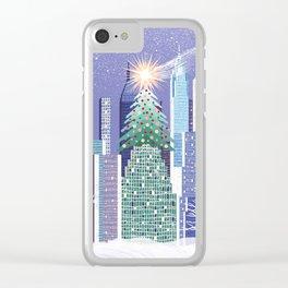 Christmas Park Clear iPhone Case