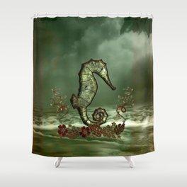 Wonderful seahorse Shower Curtain