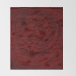 Love Letter Rose Throw Blanket