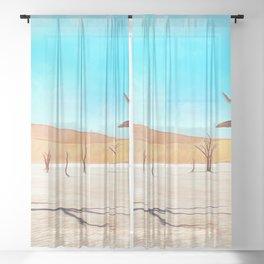 deadvlei desert trees acrstd Sheer Curtain