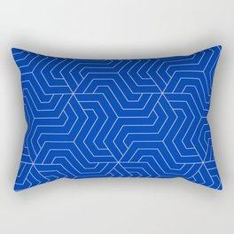 International Klein Blue - blue - Modern Vector Seamless Pattern Rectangular Pillow