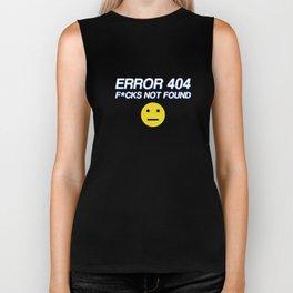 Error 404: F*CKS NOT FOUND Biker Tank