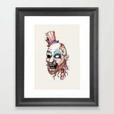Captain Zombie Framed Art Print