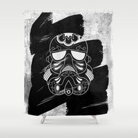 storm trooper Shower Curtains featuring Storm Trooper #2 by vrdgrs
