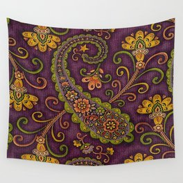 Floral Paisley Pattern 06 Wall Tapestry