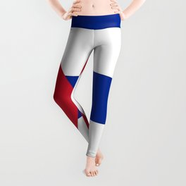 Flag of Cuba -cuban,havana, guevara,che,castro,tropical,central america,spanish,latine Leggings