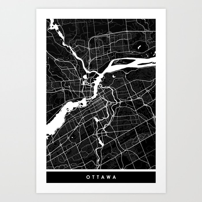 Ottawa - Minimalist City Map Art Print