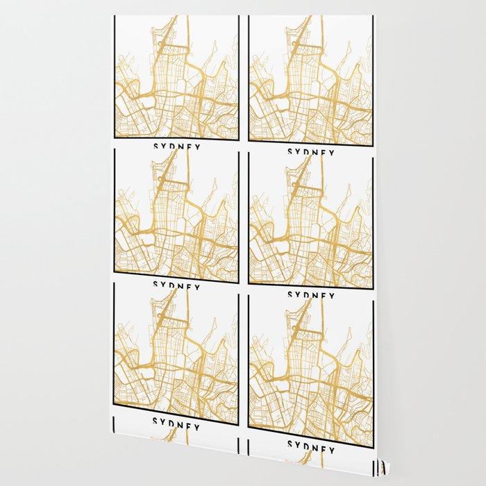 SYDNEY AUSTRALIA CITY STREET MAP ART Wallpaper